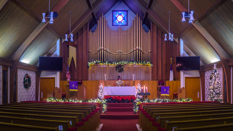 Eldon United Methodist Church Christmas Decorations