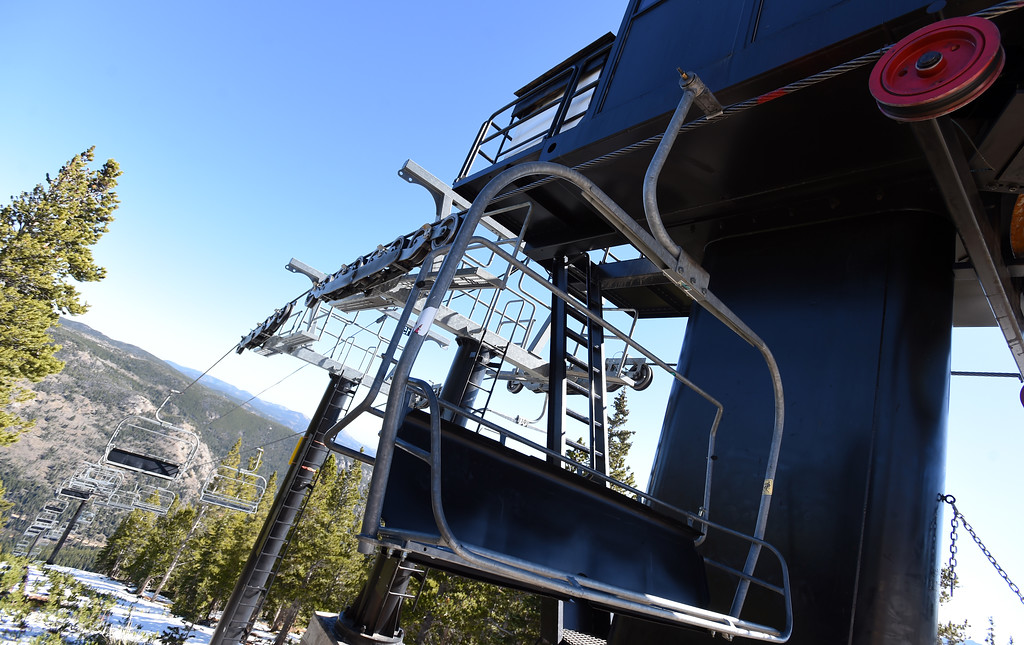 . One of the older chairlifts at Eldora. Eldora is unveiling several new amenities (new 6-seat lift, new runs) this season, as part of a multi-million dollar project since the change in ownership. Cliff Grassmick  Staff Photographer October 12, 2017