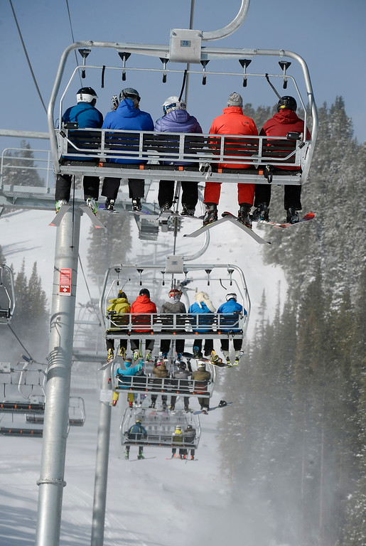 . ELDORA, CO - November 7, 2018: Eldora Mountain (Eldora) opened for the 2018/19 ski and snowboard season on Wednesday, November 7, 2018, a full nine days ahead of schedule.  (Photo by Cliff Grassmick/Staff Photographer)