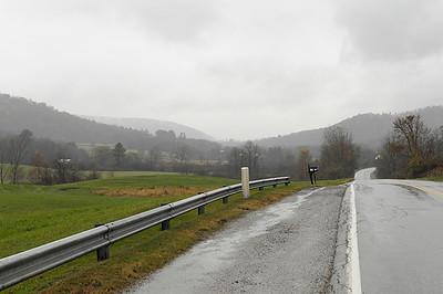 Looking North toward the village.