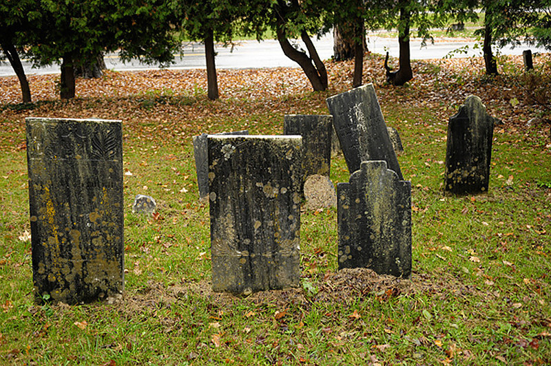 Example of the unreadable headstones in the Middletown Springs, VT cemetery.