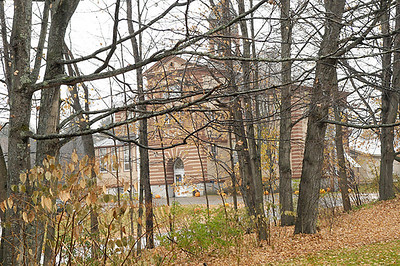 Middletown Springs Elementary School (built 1904), from the cemetery.