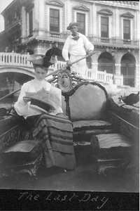 """Eleanor Roosevelt in Venice, Italy """"the last day"""" honeymoon in Europe. 1905. Franklin D. Roosevelt Library archives"""