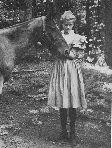 Eleanor and her horse at Hall family home, Tivoli, New York 1894. Franklin D. Roosevelt Library archives.