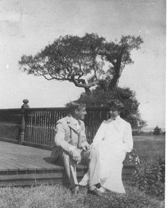 FDR - with Eleanor on the porch, Campobello, New Brunswick, Canada 1904. Franklin D. Roosevelt Library archives