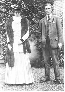 FDR - with Eleanor, Hyde Park, New York 1905. Franklin D. Roosevelt Library archives