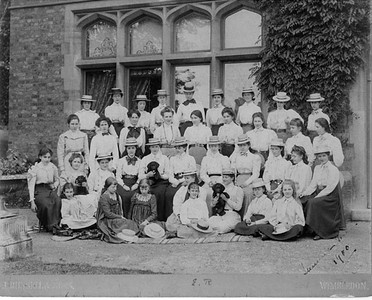 Eleanor at Mlle. Souvestre's School, Allenswood, South Fields near Wimbledon Commons, England 1900. Franklin D. Roosevelt Library archives