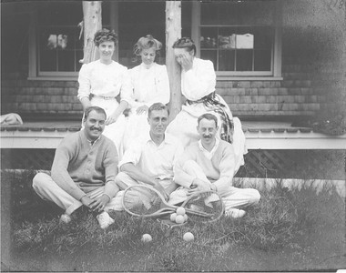 FDR and Eleanor with others at Campobello FDR seated in front center Eleanor seated center rear 1910.  Franklin D. Roosevelt Library archives