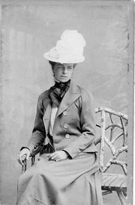 Eleanor - formal portrait taken in St. Moritz during her trip to Switzerland 1900. Franklin D. Roosevelt Library archives