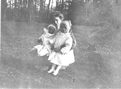 Eleanor - with James and Anna at Hyde Park, New York 1908. Franklin D. Roosevelt Library archives