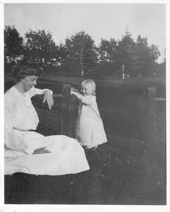 Eleanor Roosevelt and Anna Roosevelt Halsted at Campobello, Canada. Photo by FDR from Album 207. 1907. Franklin D. Roosevelt Library archives