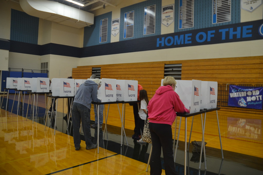 . Voters at Waterford Mott High School on Nov. 8, 2016. Anne Runkle / Digital First Media.