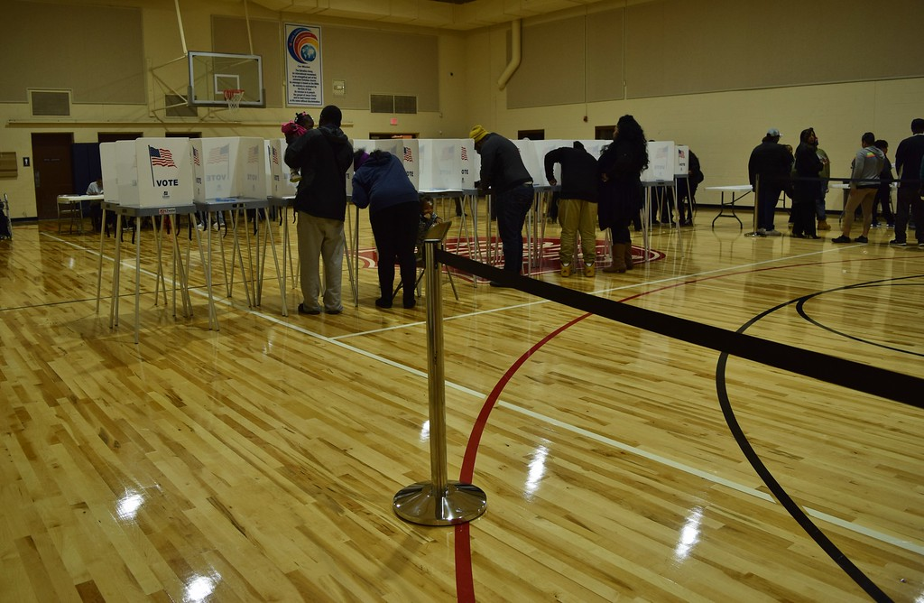 . Pontiac residents vote at the Salvation Army at 469 Martin Luther King Jr. Blvd. in Pontiac on Tuesday, Nov. 8, 2016. Natalie Broda / Digital First Media.