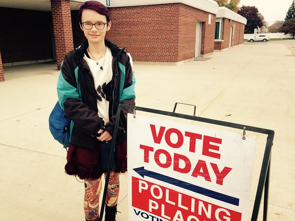 . Marybeth Cairns, 19, of Warren voted in her first election. That\'s what she\'s most excited about. (MACOMB DAILY PHOTO BY GINA JOSEPH)