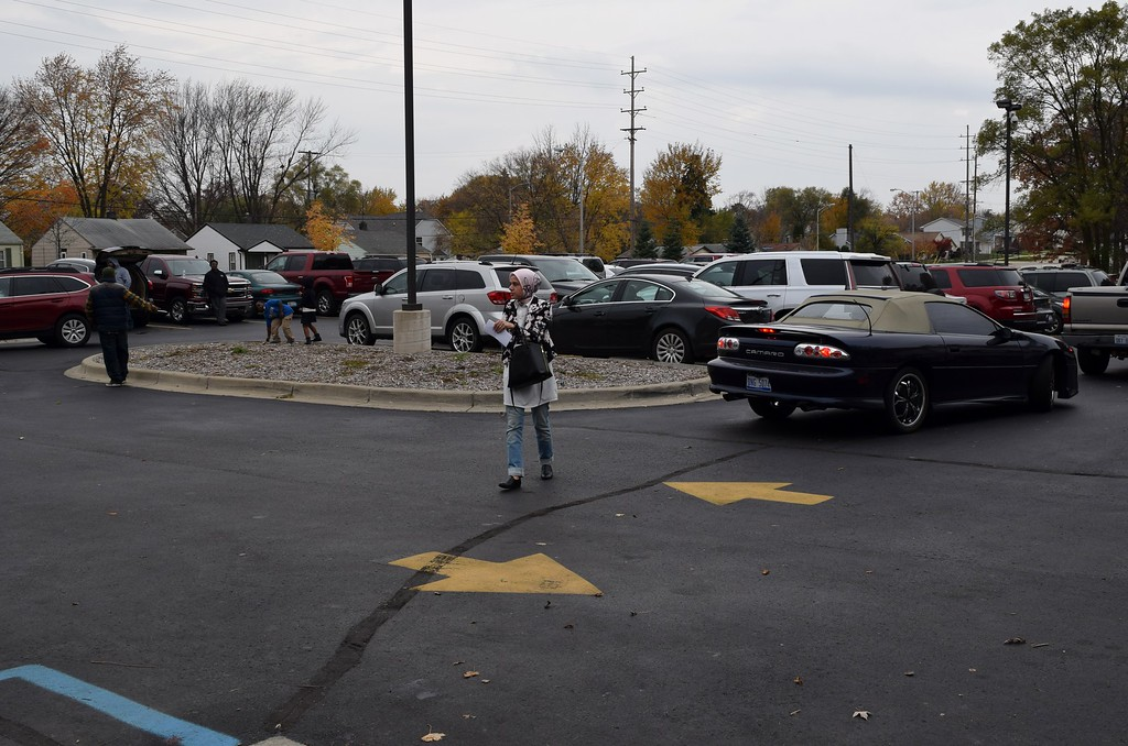 . Parking was limited as the flow of traffic remained steady throughout the day at the Salvation Army at 469 Martin Luther King Jr. Blvd. in Pontiac on Tuesday, Nov. 8, 2016. Natalie Broda / Digital First Media.