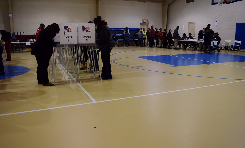 . Pontiac residents vote at New Bethel Baptist Church located at 174 Branch Street in Pontiac on Tuesday, Nov. 8, 2016. Natalie Broda / Digital First Media.