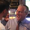 Lynn, ma. 9-12-17. Matt Fenlon congratulates State Senator Thomas McGee on his primary win for Mayor of Lynn.