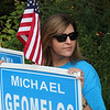 Peabody, Ma. 9-12-17. Tracy Gangi campaigning at the West Memorial School in West Peabody.