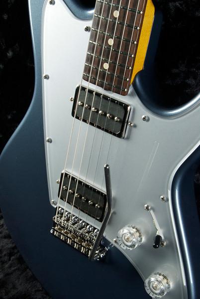 ElectraJet #3215 Charcoal Frost Metallic, G90H's, Silver Plexi Guard.