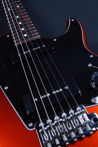 ElectraJet Custom, Black Orange Metallic, G-90 Pickups
