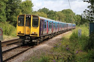 313060 1052/2J25 Hertford-Moorgate approaches Bayford   19/08/17
