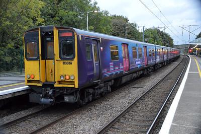 313036 waits at Hertford North to work a Moorgate service 21/10/16.