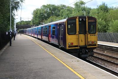313018 1053/2J25 Hertford-Moorgate departs Bayford   19/08/17