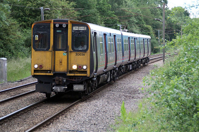 313026 approaches Bayford on a Moorgate service 24/06/13.