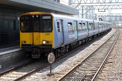 315801 on a Liverpool St-Shenfield service at Stratford 21/06/11.