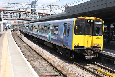315854 on a Liverpool St-Shenfield service at Stratford 21/06/11.