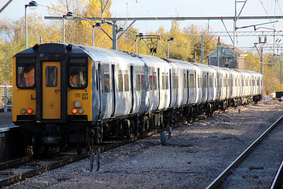 317501 leaves Hertford East for Liverpool Street  08/11/12.