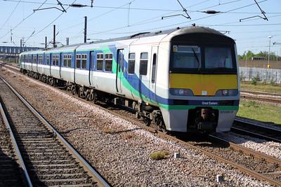 321366 1710/5e21 Ilford-Doncaster passes Peterborough   25/05/12