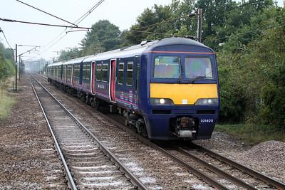 321420 passes Welwyn North 02/10/13.