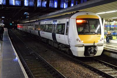 c2c unit 357044 passes through Stratford ecs  13/02/15.