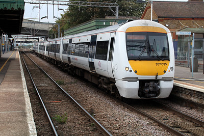 357035 seen at Dagenham Dock 01/10/13.