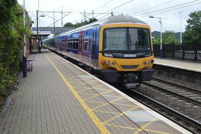 365504 departs Welwyn North for Kings Cross  13/07/14.