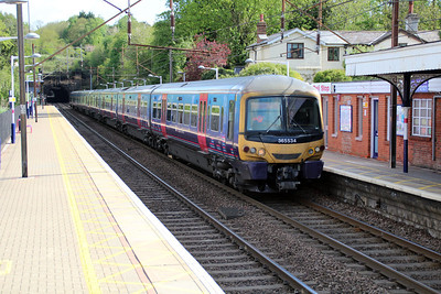 365534 on a Kings Cross service passing Welwyn North 11/05/13.