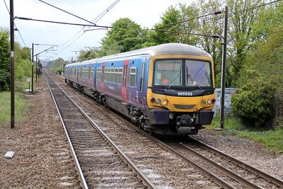 365533 passing Welwyn North 14/05/13.