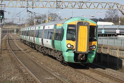377208 on an East Croydon service. 23/03/11