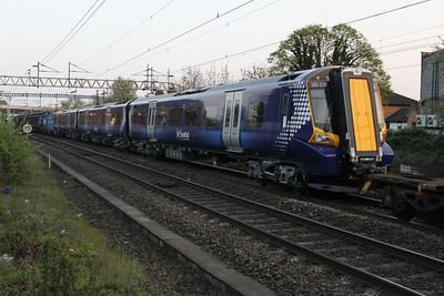 380016 Being delivered on 7X80 Dollands Moor-Polmadie 18/04/11
