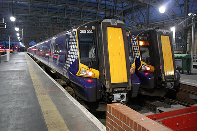 380004 and 380012 at Glasgow Central.
