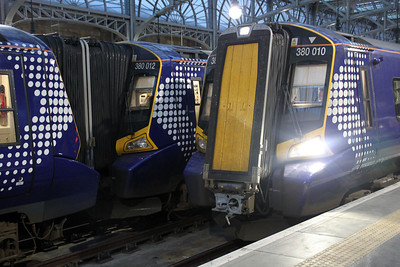 380012 and 380010 at Glasgow Central.