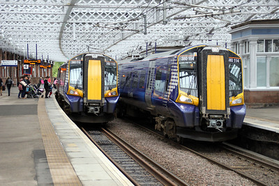 380110 and 380114 at Paisley Gilmour Street.
