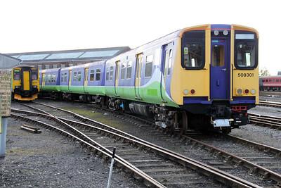 508301 in Eastleigh Works Yard 20/10/11.