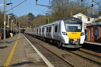 700110 passing Welwyn North on a commisioning run  24/02/17