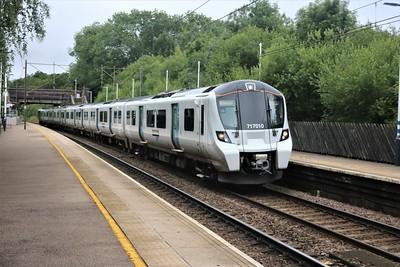 717010 seen at Bayford at 0831/2F12 Moorgate to Watton at Stone   04/07/20
