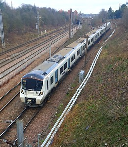 717016 comes of the flyover at Welwyn Garden City with 1028/2K56 wgc to Moorgate  02/01/20. Also my last one!!