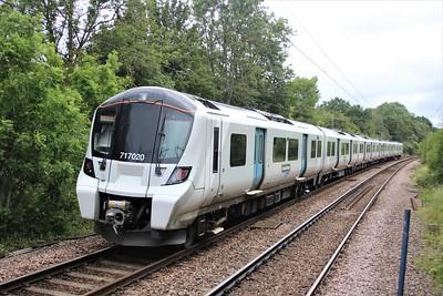 717020 Departs Bayford 0901/2F14 Moorgate to Watton at Stone    27/06/20