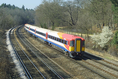 2415 heads north near Pirbright Junction on 04/04/2003.