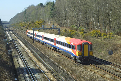2409 heads north near Pirbright Junction on 04/04/2003.